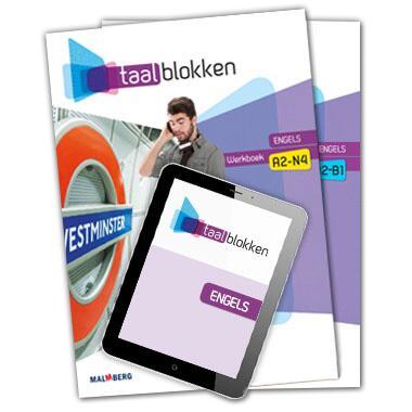 (ECK) Taalblokken 3 combi EN (mbo-4) A2-B1 boeken en licentie 12 mnd