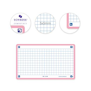 3020120151960 - Oxford flashcards 2.0 geruit 5 mm roze (75 x 125mm)