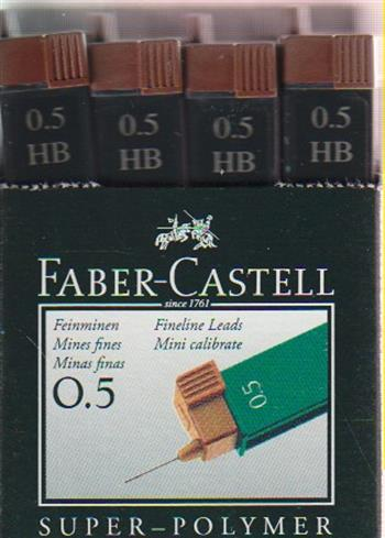 4005401205005 - Potloodstiftjes faber castell 0.5mm hb 12st