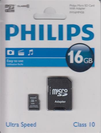 8712581667559 - Philips Micro SD 16 GB card incl. SD adapter