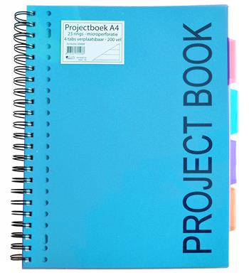 8713261818957 - Projectboek A4 blauw/turqouise