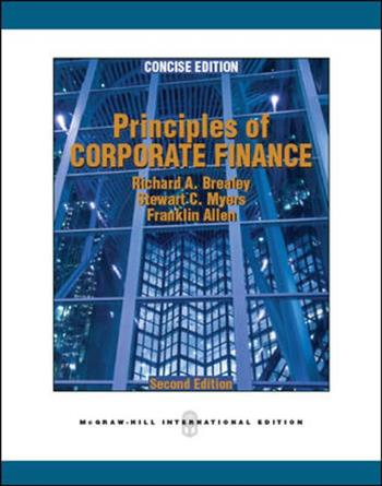 9780071289160 - Principles of corporate finance, concise