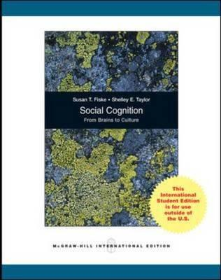 9780071311496 - Social cognition : from brains to culture