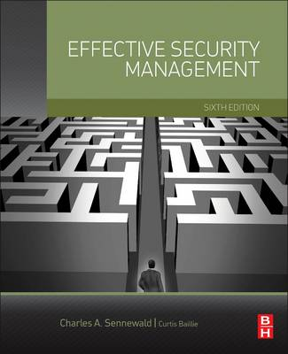 9780128027745 - Effective Security Management