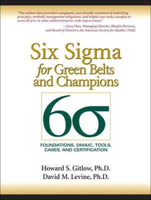9780134048574 - Six Sigma for Green Belts and Champions:Foundations, DMAIC, Tools, Ca ses, and Certification (paperback)