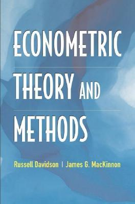 9780195123722 - Econometric Theory And Methods