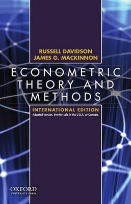 9780195391053 - Econometric Theory And Methods