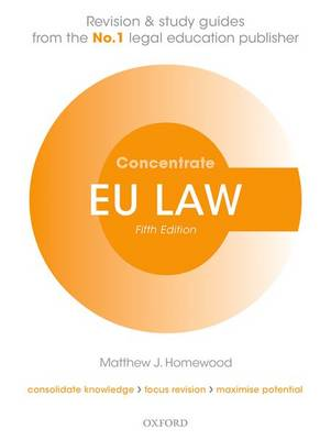 9780198759171 - EU Law Concentrate: Law Revision and Study Guide