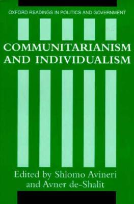 9780198780281 - Communitarianism And Individualism