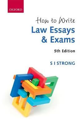 9780198811152 - How to write law essays and exams
