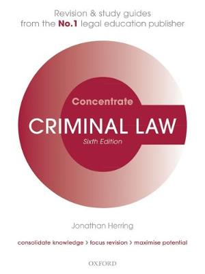 9780198815150 - Criminal Law Concentrate: Law Revision and Study Guide