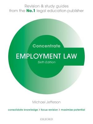 9780198815167 - Employment Law Concentrate: Law Revision and Study Guide