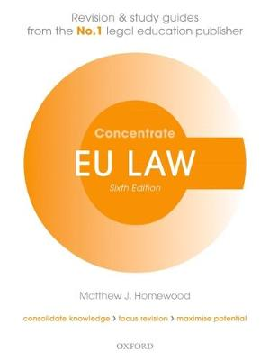 9780198815181 - EU Law Concentrate Law Revision & Study