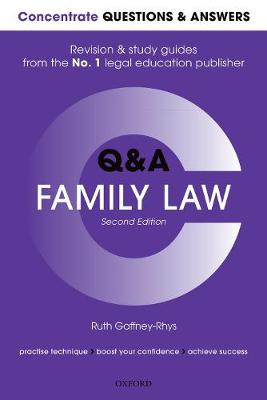 9780198817482 - Concentrate Questions and Answers Family Law: Law Q&A Revision and Study Guide