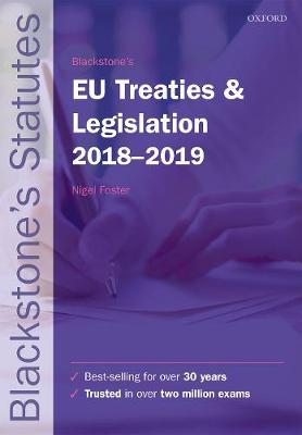 9780198818564 - Blackstone's EU Treaties & Legislation 2018-2019