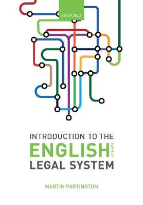 9780198818861 - Introduction to the English Legal System 2018-2019