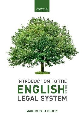9780198838838 - Introduction to the English Legal System 2019-2020