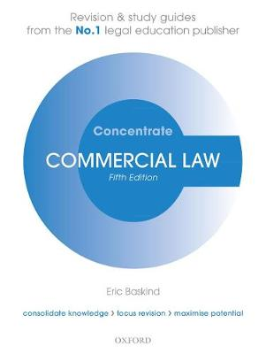 9780198840619 - Commercial Law Concentrate: Law Revision and Study Guide