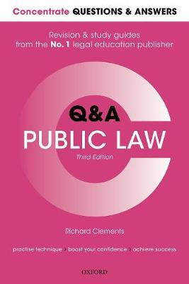 9780198853497 - Concentrate Questions and Answers Public Law: Law Q&A Revision and Study Guide