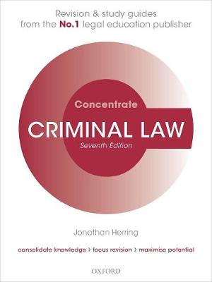 9780198854982 - Criminal Law Concentrate: Law Revision and Study Guide
