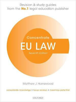 9780198854999 - EU Law Concentrate: Law Revision and Study Guide