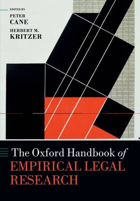 9780199659944 - Oxford Handbook of Empirical Legal Research