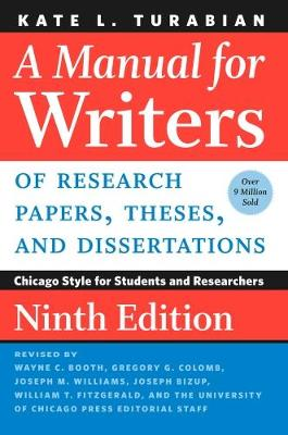 9780226430577 - A Manual for Writers of Research Papers, Theses, and Dissertations