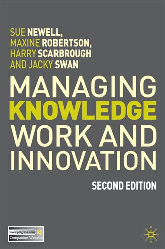 9780230366428 - Managing Knowledge Work and Innovation