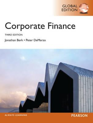 Studystore corporate finance global edition jonathan berk peter corporate finance global edition jonathan berk peter demarzo fandeluxe Choice Image