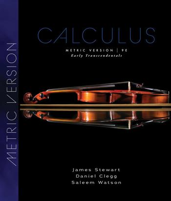 9780357113516 - Calculus: Early Transcendentals, Metric Edition