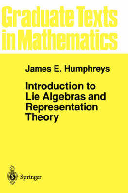 9780387900537 - Introduction to lie algebras and representation theory