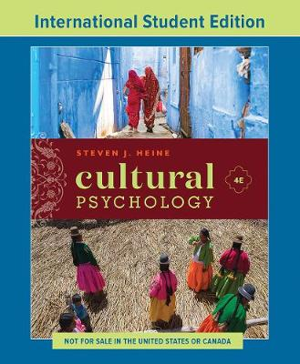 9780393421873 - Cultural Psychology: International Student Edition
