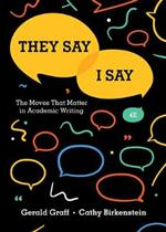 9780393631678 They Say / I Say: The Moves That Matter in Academic Writing