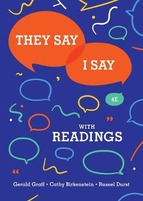 9780393631685 - They Say / I Say: The Moves That Matter in Academic Writing with Readings