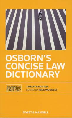 9780414023208 - Osborn's Concise Law Dictionary