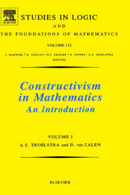 9780444702661 - Constructivism in mathematics volume 1 studies in logic and the foundations of mathematics, vol 121