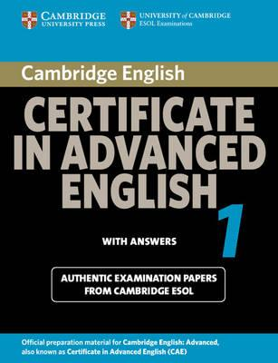 9780521714426 - Cambridge Certificate in Advanced English 1 for Updated Exam Student's Book with Answers