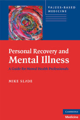 9780521746588 - Personal Recovery And Mental Illness