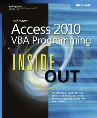 9780735664906 - Microsoft Access 2010 VBA Programming Inside Out