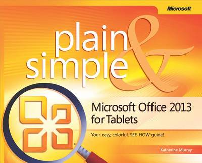 9780735672727 - Microsoft Office Professional 2013 for Touch Devices Plain & Simple