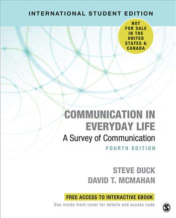 9781071808238 - Communication in Everyday Life: A Survey of Communication (International Student Edition)
