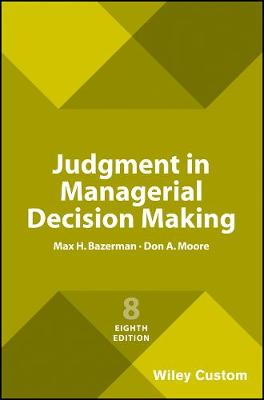 9781119427384 - Judgment in Managerial Decision Making