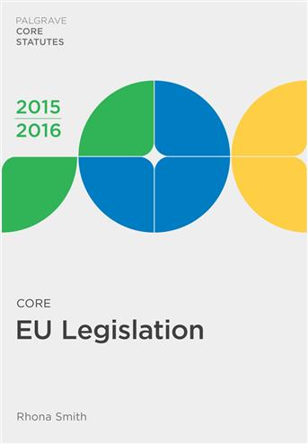 9781137544827 - Core EU Legislation 2015-16