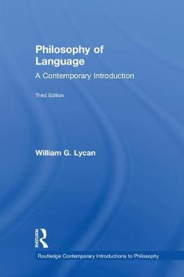 9781138504578 - Philosophy of Language: A Contemporary Introduction
