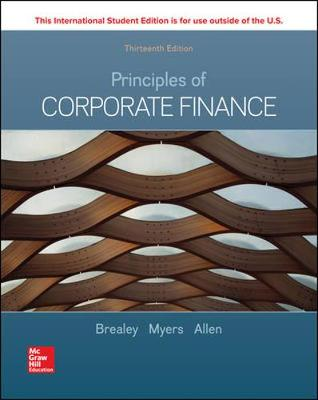 9781260565553 - Principles Of Corporate Finance