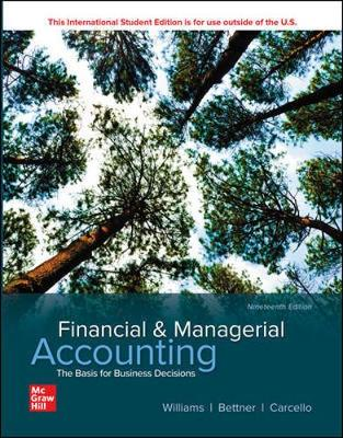 9781260575576 - Ise Financial & Managerial Accounting