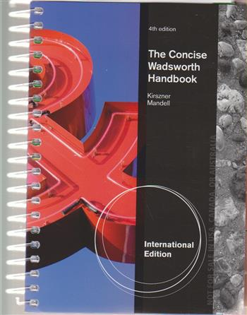 9781285072531 - The Concise Wadsworth Handbook