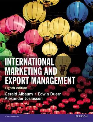 9781292016955 - International Marketing and Export Management