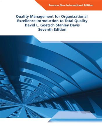 9781292035536 - Quality Management for Organizational Excellence Pearson New International Edition