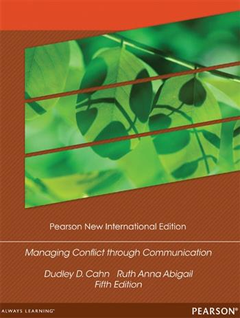9781292052229 - Managing Conflict through Communication: Pearson New International Edition